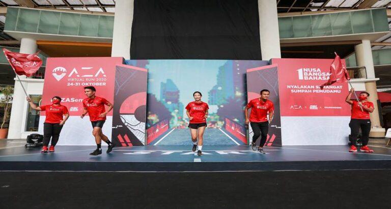 AZA Virtual Run 2020 Libatkan 1.092 Pelari se-Nusantara, Rayakan Sumpah Pemuda