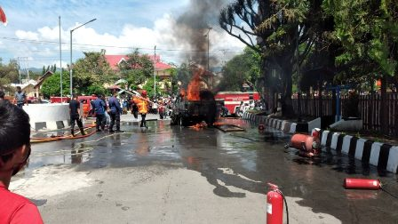 Angkut BBM Bersubsidi, Mobil Terbakar di SPBU