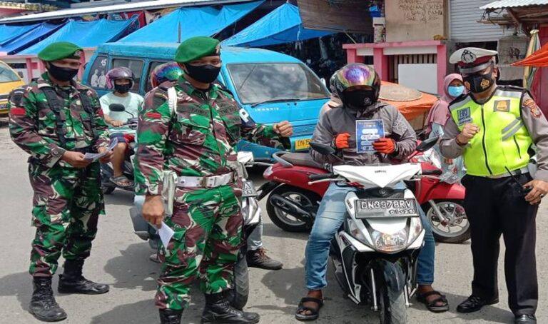 Sosialisasi Prokes, TNI-Polri Masuk Pasar