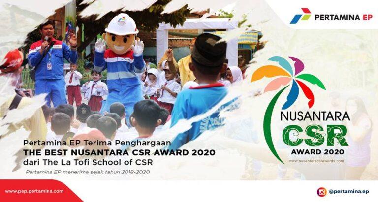 Pertamina EP Raih The Best CSR Nusantara Award 2020