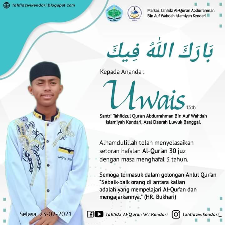 Uwais, Anak Luwuk yang Berhasil Jadi Hafiz Quran