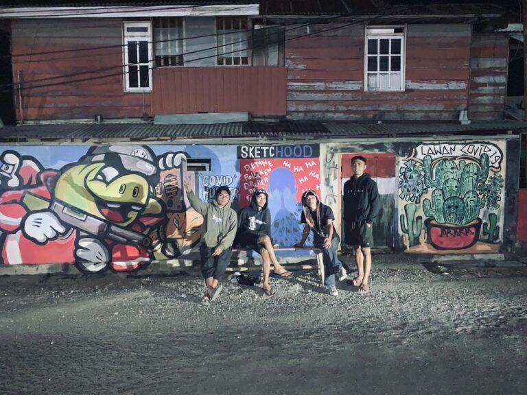Lewat Kesenian Mural, Sketchood Kampanyekan Pencegahan Covid-19