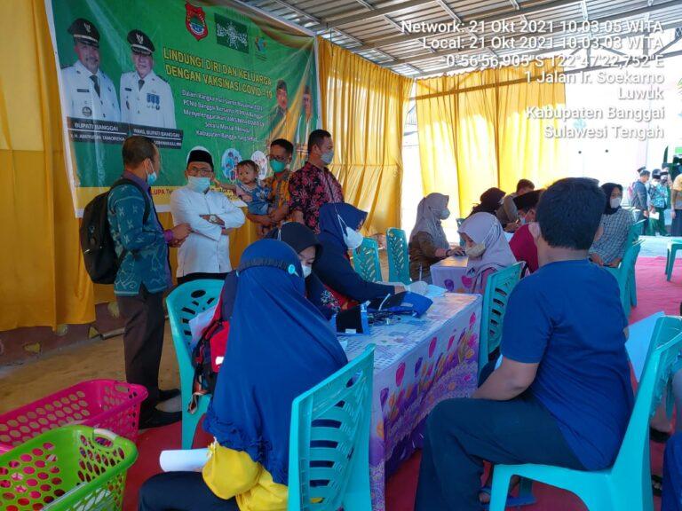 Dukung Program Pemda, PCNU Banggai Gelar Vaksin
